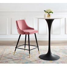 Adorn Performance Velvet Counter Stool in Dusty Rose