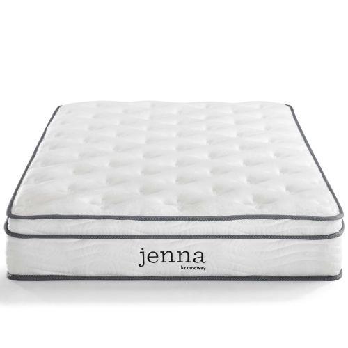 """Jenna 8"""" King Innerspring Mattress in White"""