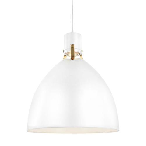 Brynne Medium LED Pendant Flat White Bulbs Inc