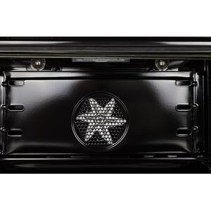 24 Inch Glossy Black Natural Gas Freestanding Range