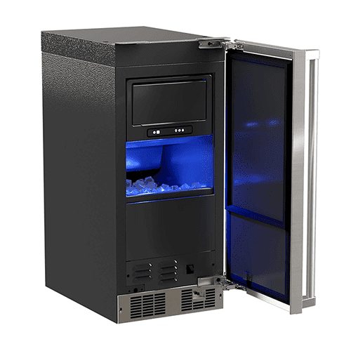 Marvel - 15-In Professional Built-In Clear Ice Machine With Pump with Door Style - Stainless Steel, Door Swing - Right, Pump - Yes
