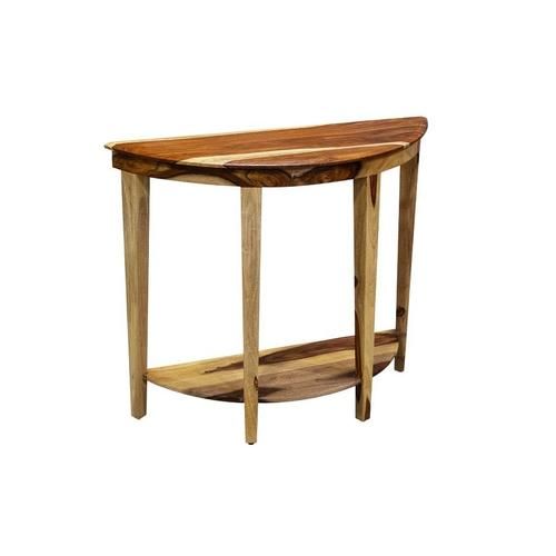 See Details - Sheesham Accents Half Round Console Table, PDU-110