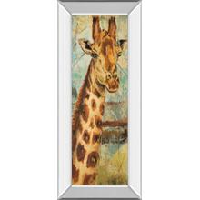 """New Safari On Teal I"" By Patricia Pinto Mirror Framed Print Wall Art"