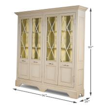 Four Door Kentucky Bourbon Bookcase