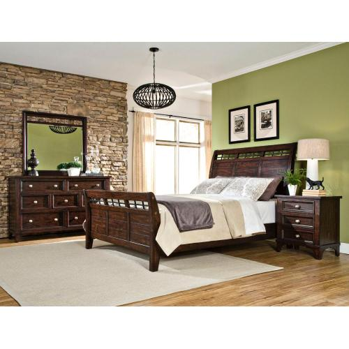 Queen Sleigh Bed Footboard