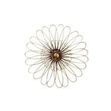 "Gold Metal Daisy Wall Flower Wb 16"""