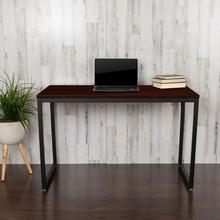 "Modern Commercial Grade Desk Industrial Style Computer Desk Sturdy Home Office Desk - 47"" Length-Mahogany"
