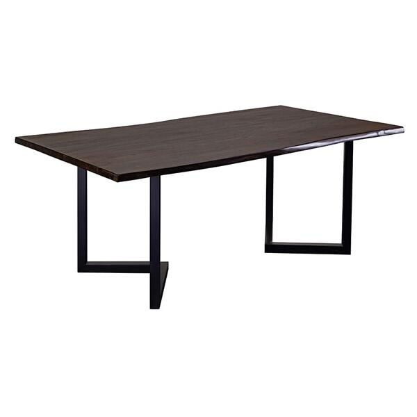 "Manzanita Midnight Sheesham 82"" Dining Table with Different Bases, VCS-DT82M"