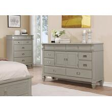 York 204 8 Drawers and 2 Doors Antique Grey Dresser
