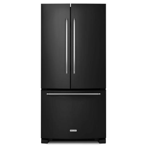 Product Image - 22 Cu. Ft. 33-Inch Width Standard Depth French Door Refrigerator with Interior Dispenser - Black