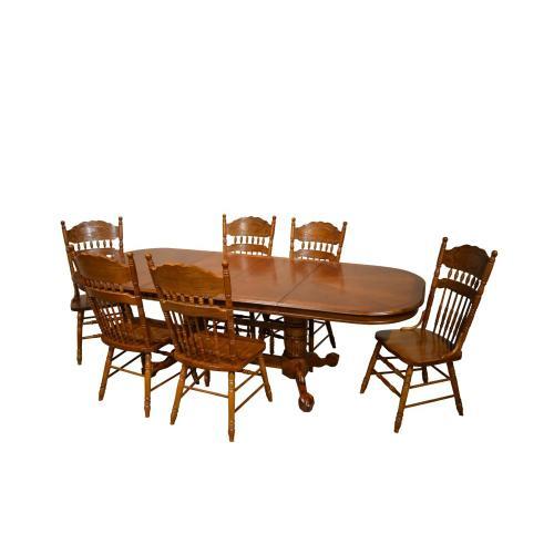 "Sunburst Table Top (Two 18"" leaves)"
