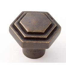 Product Image - Geometric Knob A1535 - Unlacquered Brass