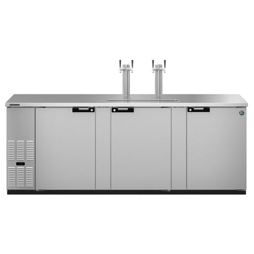 HDD-4-95-S, Refrigerator, Three Section, Stainless Steel Back Bar Direct Draw, Solid Doors