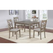 GL-3599  5 Piece Rectangular Dining Table Set  Four Upholstered Chairs