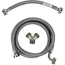 See Details - Braided Stainless Steel Steam Dryer Installation Kit with Elbow, 5ft