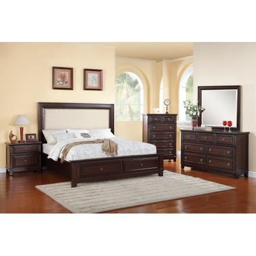 Harwich Bedroom - King Storage Bed, Dresser, Mirror, Chest, and Night Stand