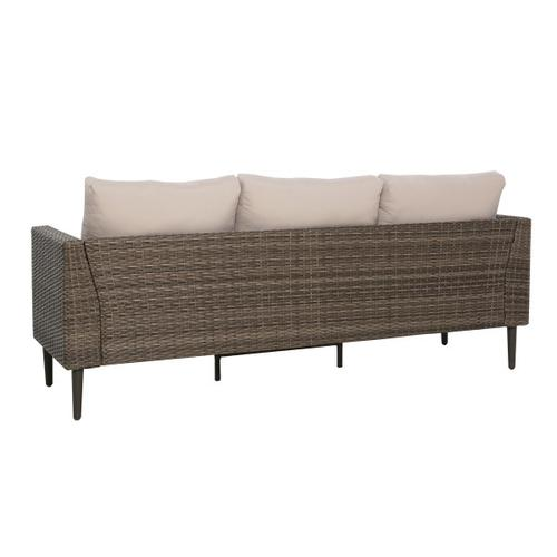 Transitional Weaved Sofa Frame in Brown