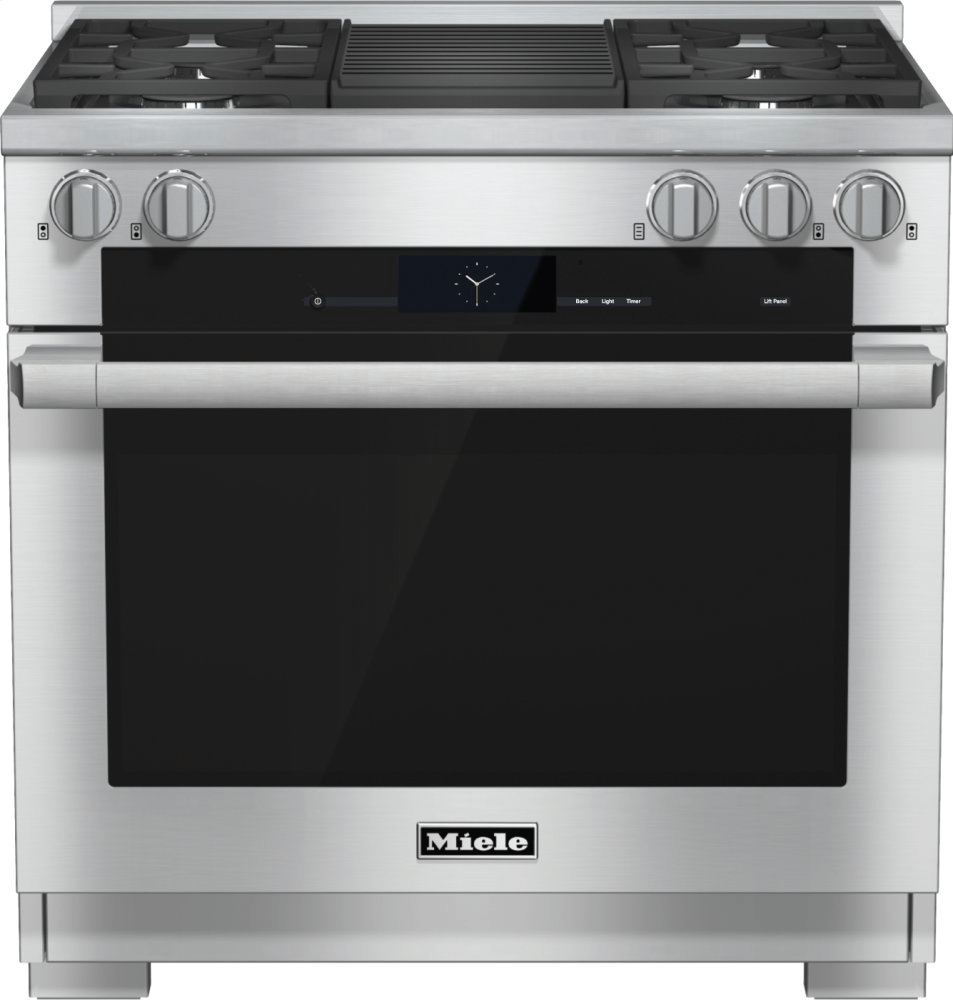 MieleHr 1935-2 G - 36 Inch Range Dual Fuel With M Touch Controls, Moisture Plus And M Pro Dual Stacked Burners