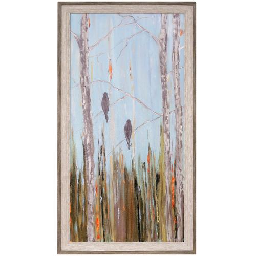 Style Craft - LES CANARIS I  29in w X 53in ht  Textured Framed Print  Made in USA