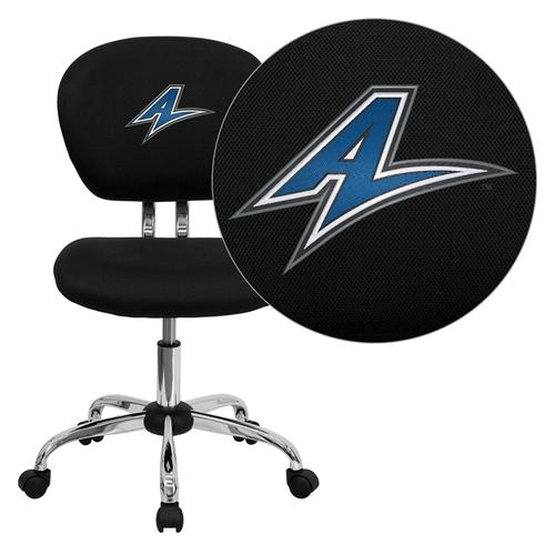 North Carolina - Asheville Bulldogs Embroidered Black Mesh Task Chair with Chrome Base