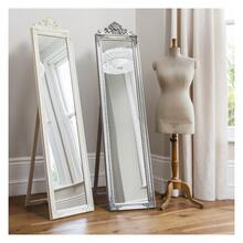GA Lambeth Wood Cheval Mirror Silver