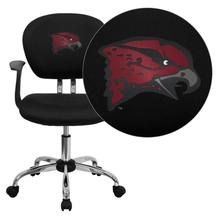 Maryland Eastern Shore Hawks Embroidered Black Mesh Task Chair with Arms and Chrome Base