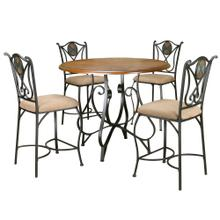 See Details - Vail Counter Height Dining Set (5 Piece)