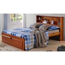 DEL RAY KIDS FULL BOOKCASE BED in Pecan Finish        (under drawer unit sold separately)       (INN-DELF)