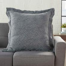 "Life Styles Bx056 Grey 1'10"" X 1'10"" Throw Pillow"