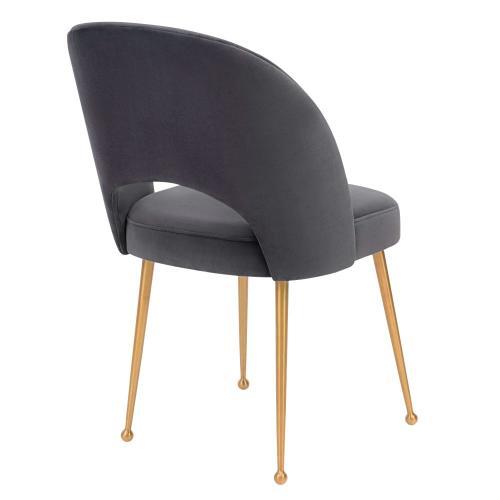 Swell Dark Grey Velvet Chair