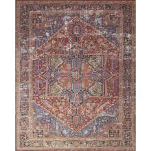 """Lucca Red Blue Rug - 2'-3"""" x 3'-9"""""""