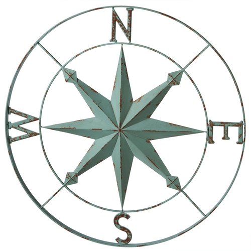 Blue Compass Wall Decor