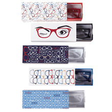 Colored Hipster Readers with Printed Slide Box (5 asstd)