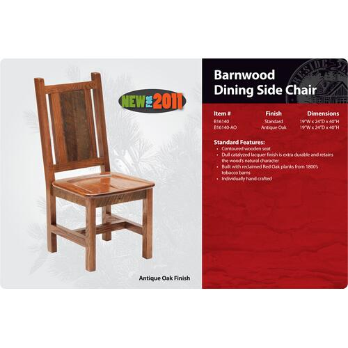 Barnwood Dining Side Chair