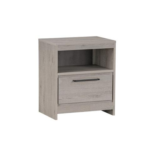 Alix Nightstand with USB Charging Station, Natural