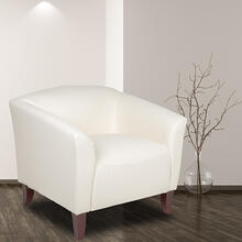 HERCULES Imperial Series Ivory LeatherSoft Chair