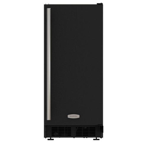 15-In Built-In Crescent Ice Maker with Door Style - Black
