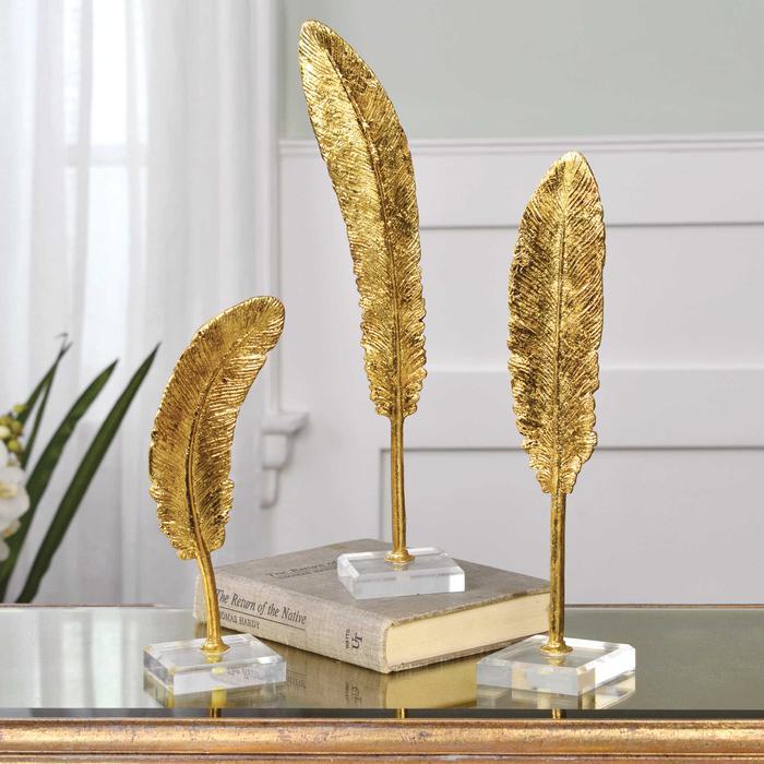 Uttermost - Feathers Sculpture, S/3