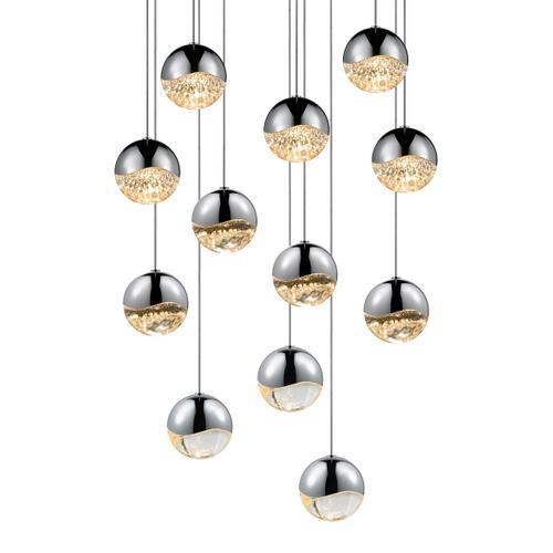 Sonneman - A Way of Light - Grapes® LED Pendant [Size=12-Light Medium, Color/Finish=Polished Chrome, Shape=Round Canopy]