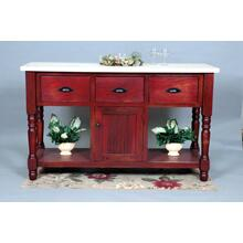 "#314 Harrisburg Kitchen Island w/ Butcher Block Top 60.5""wx22""dx37""h"
