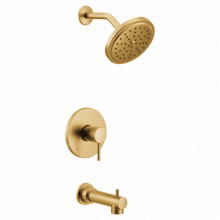Align brushed gold m-core 3-series tub/shower