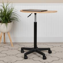 See Details - Maple Sit to Stand Mobile Laptop Computer Desk