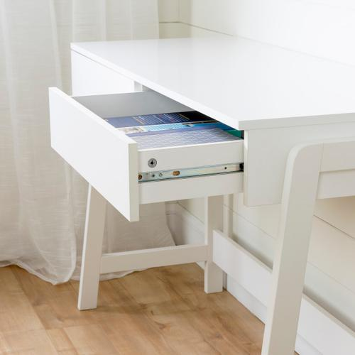 Liney - Secretary Desk, Pure White