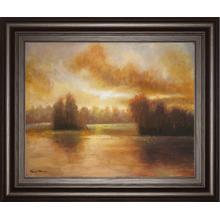 """Golden Lake Glow I"" By Michael Marcon Framed Print Wall Art"