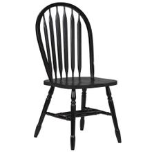 """See Details - Arrowback Dining Chair - Antique Black (38"""")"""
