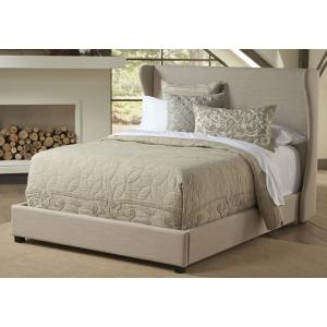 Wing Upholstered Footboard w/rails Queen