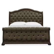 Complete Cal.King Sleigh Upholstered Bed