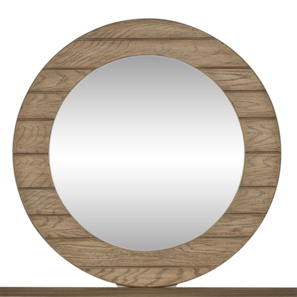 Round Mirror - Brown