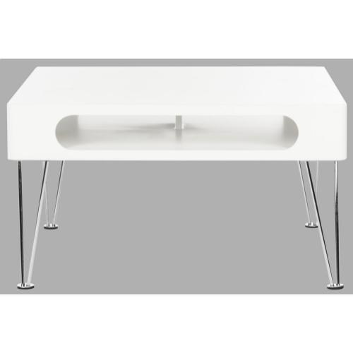 Keaton Coffee Table - White & Chrome