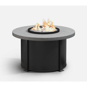 """42"""" Round Chat Fire Pit Ht: 24.5"""" Valero Aluminum Base (Indicate Top, Frame, & Side Panel Color)"""